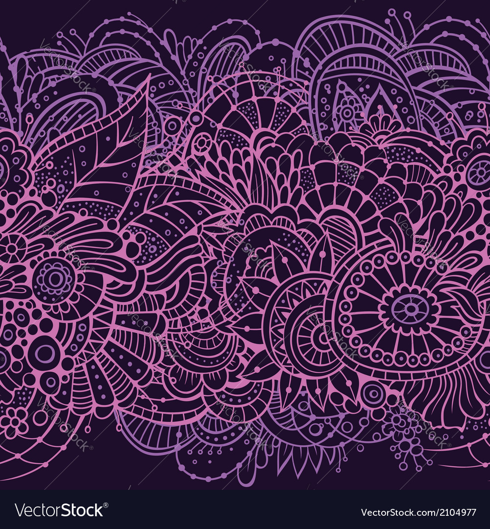 Endless pattern with flowers vector | Price: 1 Credit (USD $1)