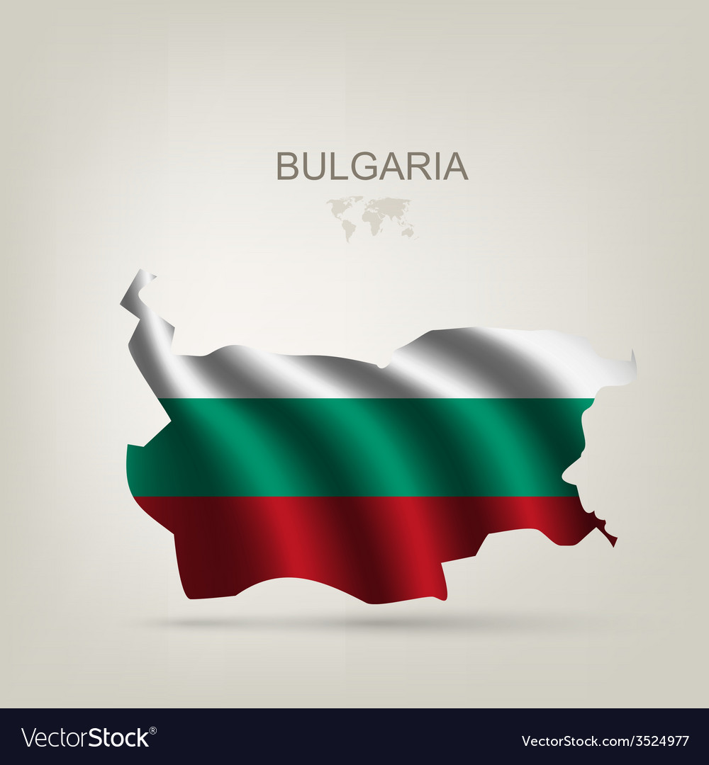 Flag of bulgaria as a country vector | Price: 1 Credit (USD $1)