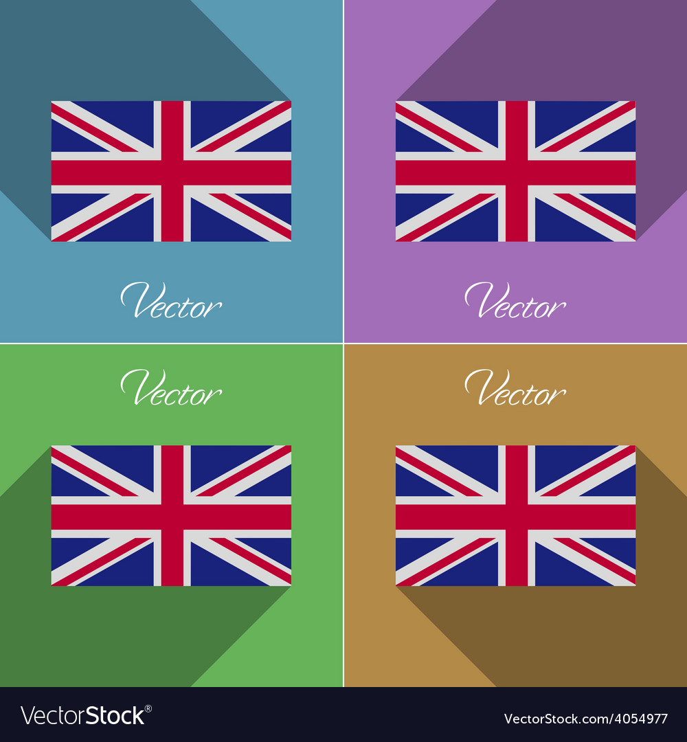 Flags united kingdom set of colors flat design and vector   Price: 1 Credit (USD $1)