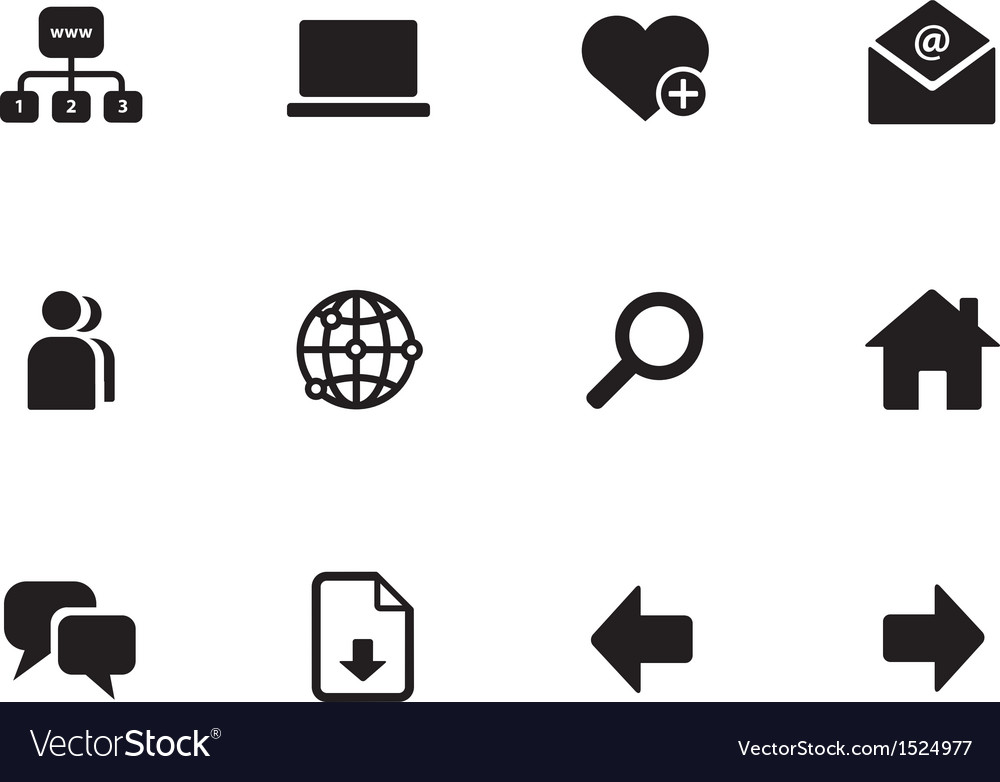 Network icons on white background vector | Price: 1 Credit (USD $1)