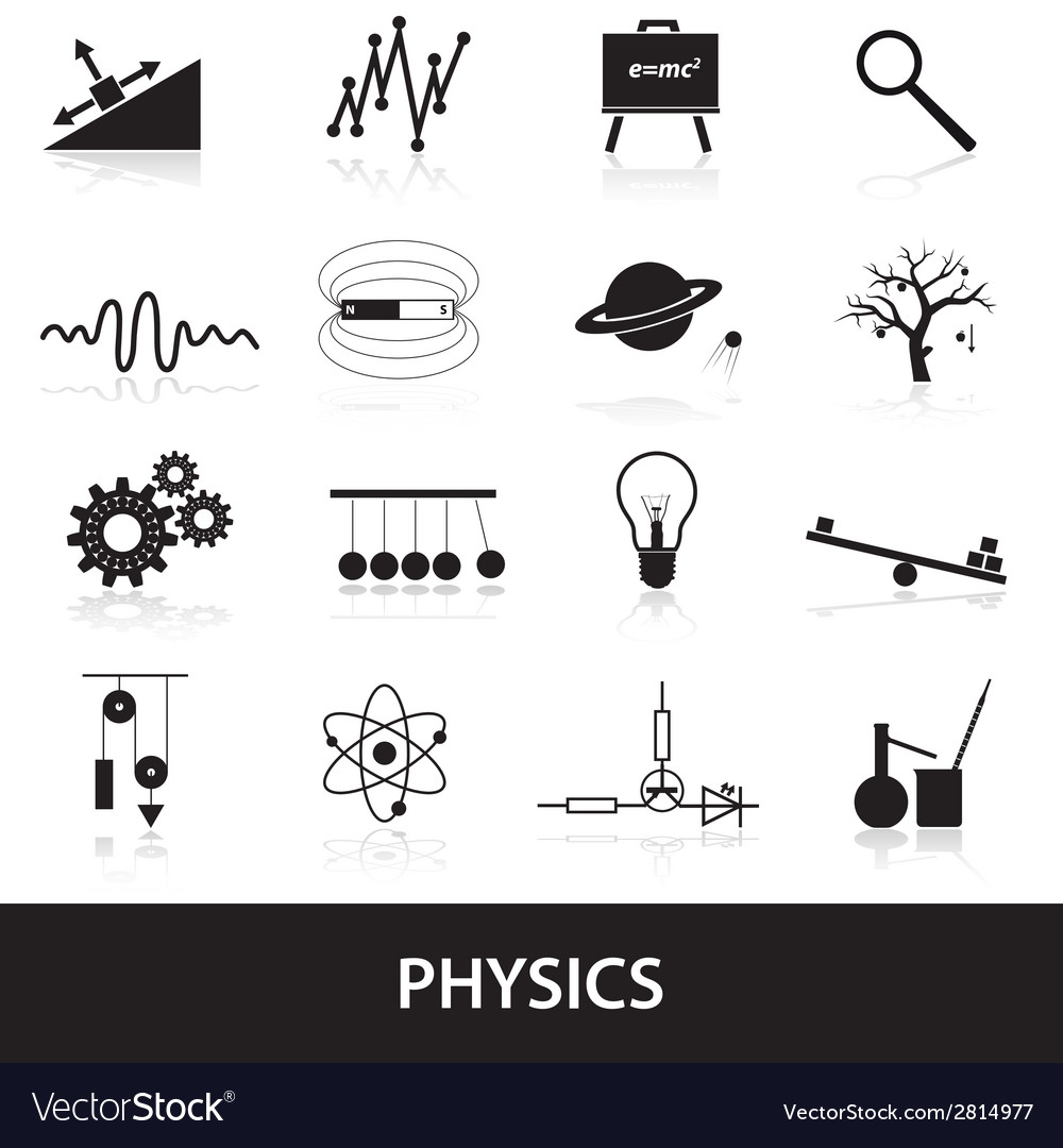 Physics icons set eps10 vector | Price: 1 Credit (USD $1)