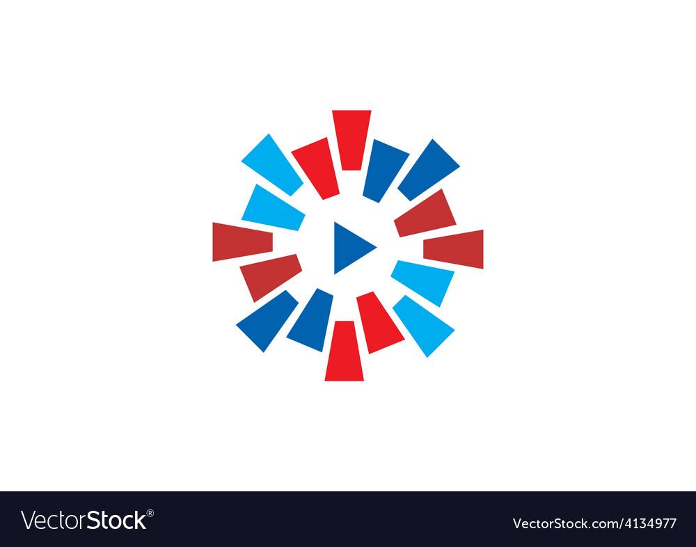 Play video circular color logo vector | Price: 1 Credit (USD $1)