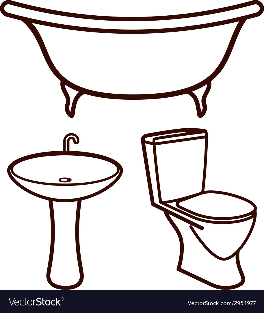 Set of bathroom elements vector | Price: 1 Credit (USD $1)