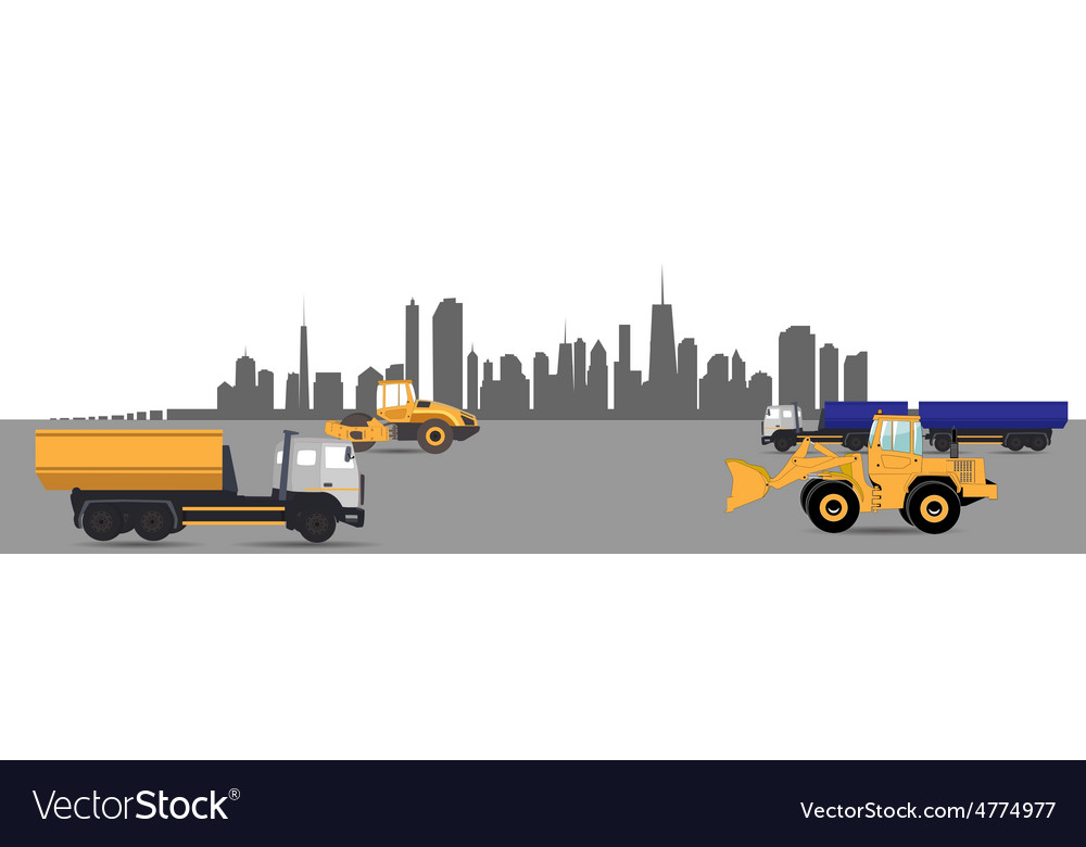 Transport services in the city car vector | Price: 1 Credit (USD $1)