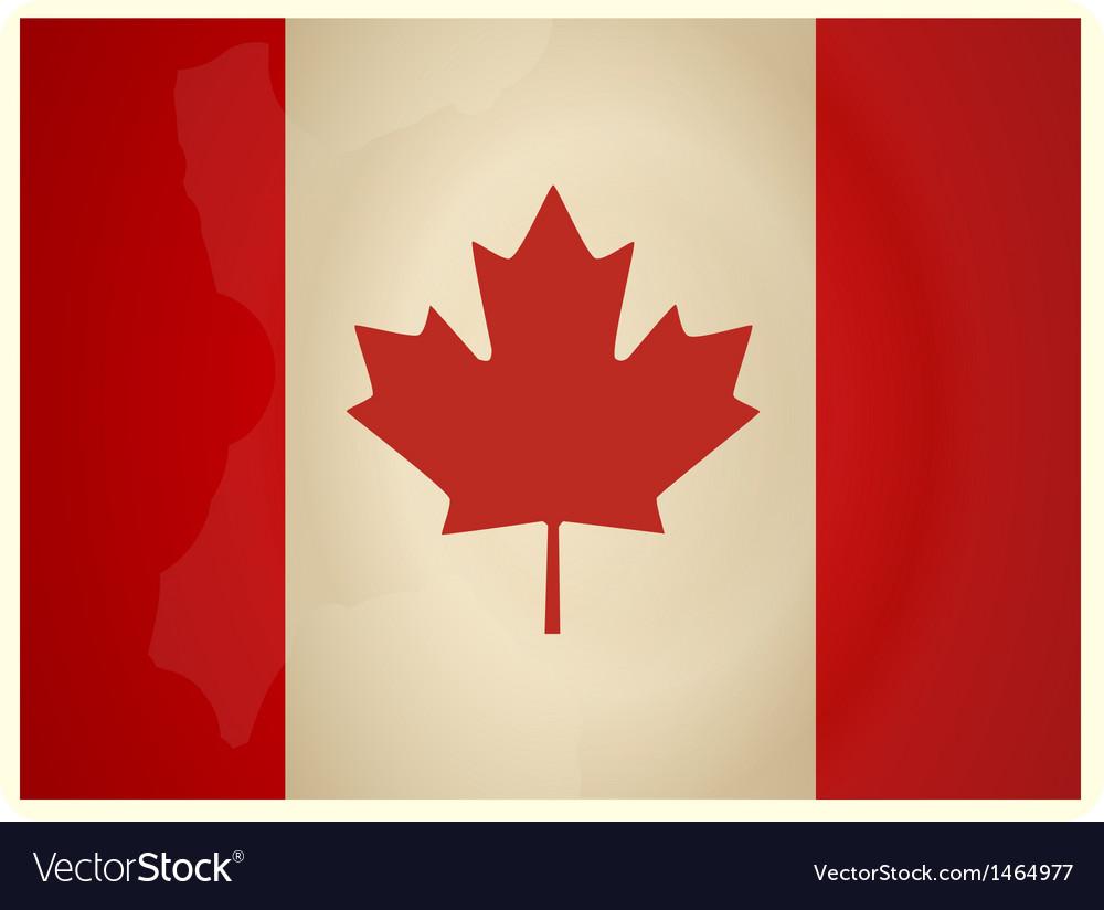 Vintage canada flag vector   Price: 1 Credit (USD $1)
