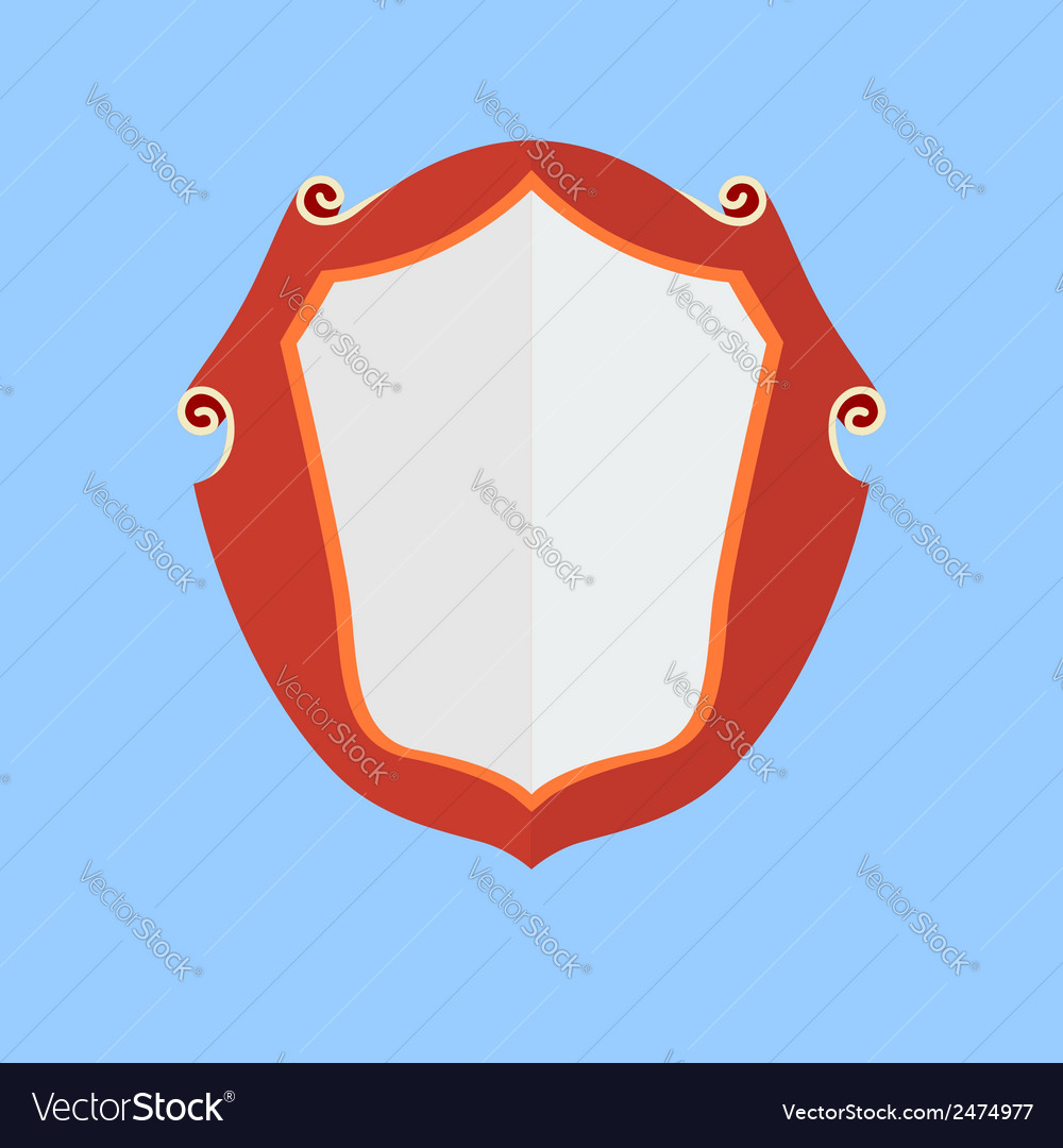 Vintage shield icon vector | Price: 1 Credit (USD $1)