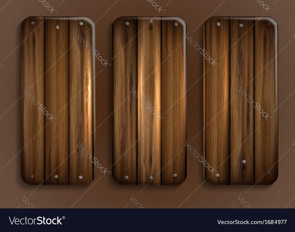 Wooden texture banner vector | Price: 1 Credit (USD $1)