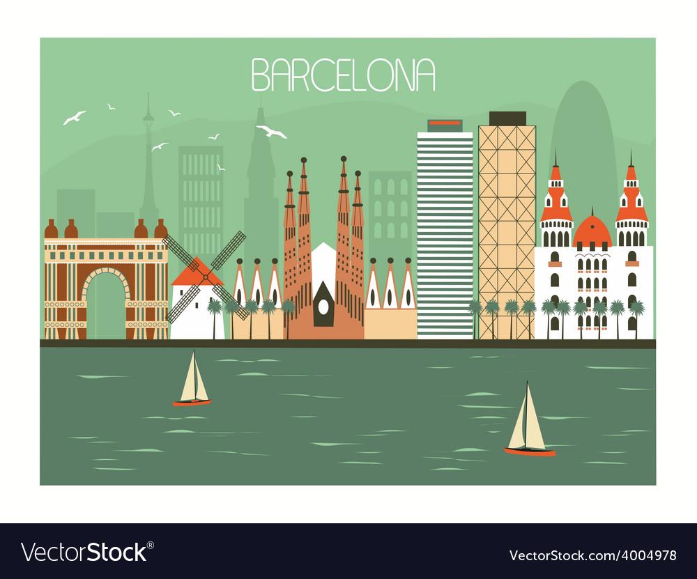 Barcelona spain vector | Price: 1 Credit (USD $1)