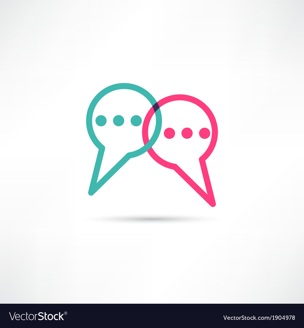 Chat concept icon vector | Price: 1 Credit (USD $1)