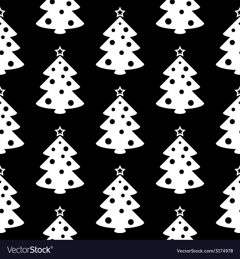 Christmas tree symbol seamless pattern vector | Price: 1 Credit (USD $1)