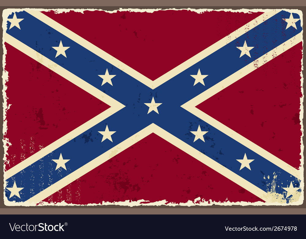 Confederate grunge flag vector | Price: 1 Credit (USD $1)