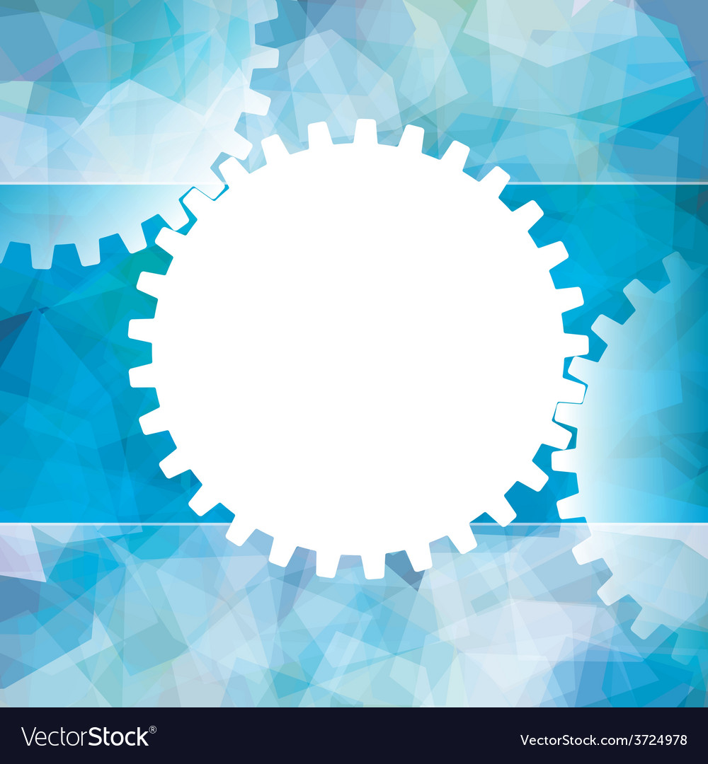 Gears white symbol background teamwork business vector | Price: 1 Credit (USD $1)