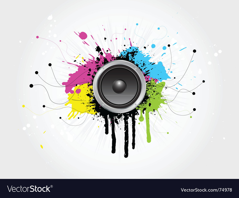 Grunge sound vector | Price: 1 Credit (USD $1)
