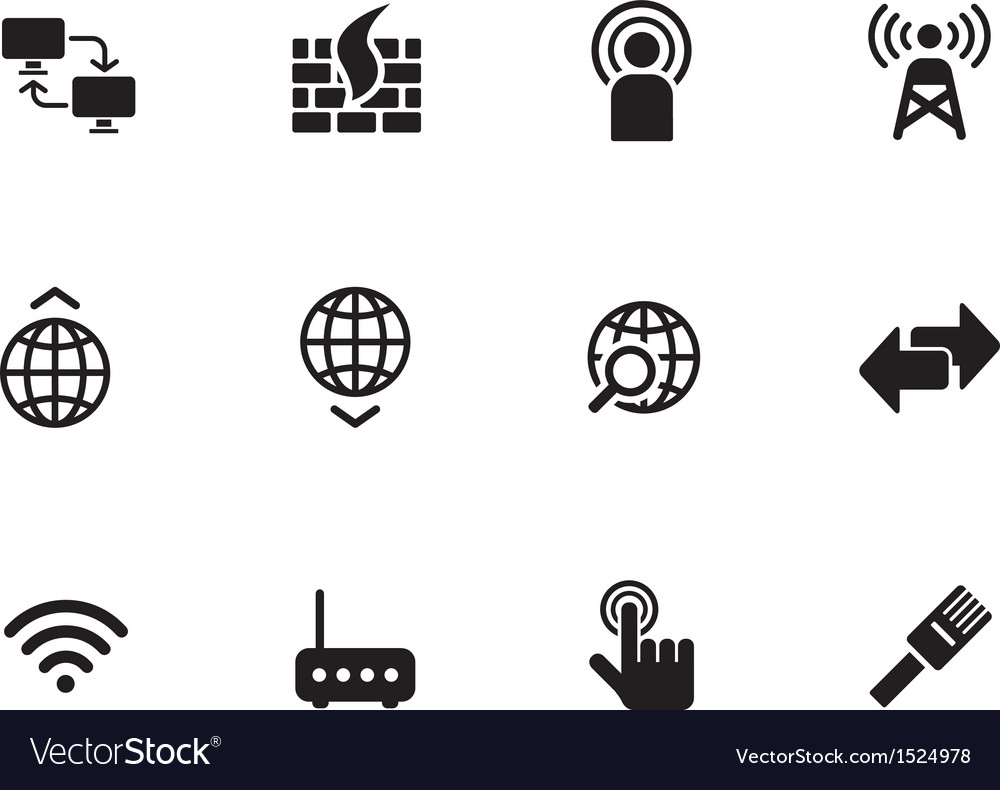 Networking icons on white background vector | Price: 1 Credit (USD $1)