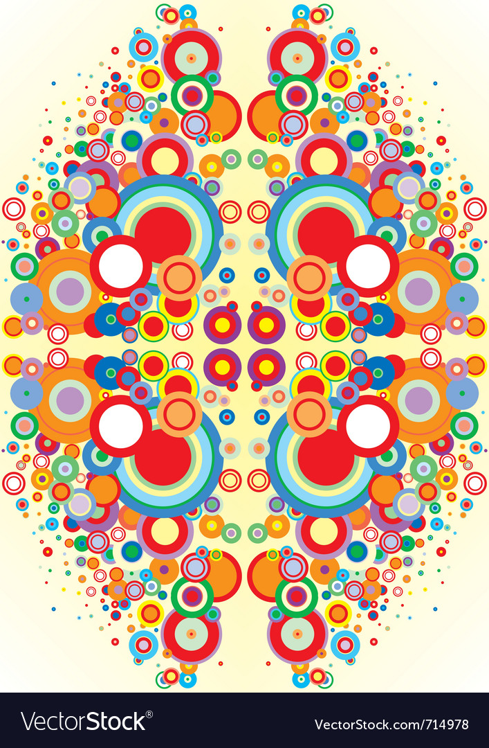 Psychedelic circles vector | Price: 1 Credit (USD $1)