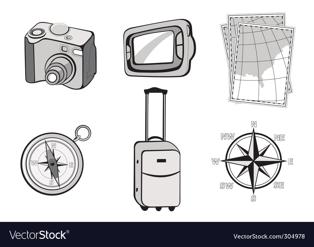 Touristic icons vector | Price: 3 Credit (USD $3)