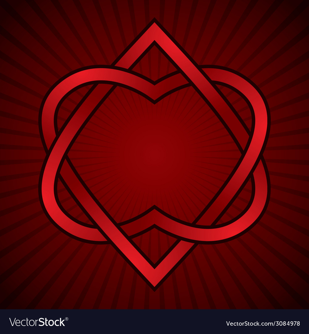 Two hearts linked vector | Price: 1 Credit (USD $1)