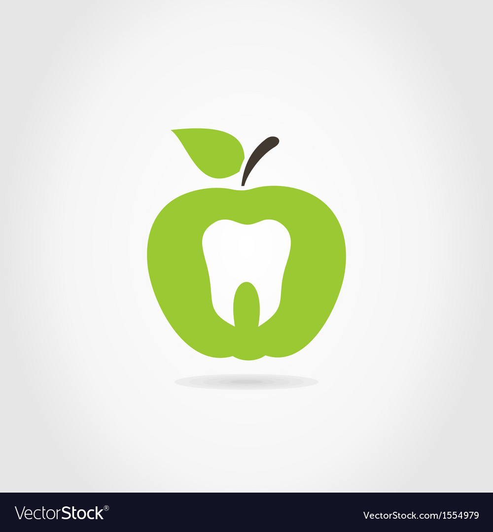 Apple a tooth vector | Price: 1 Credit (USD $1)