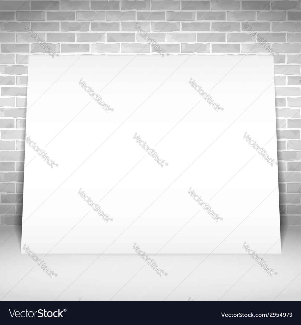 Blank white poster vector | Price: 1 Credit (USD $1)