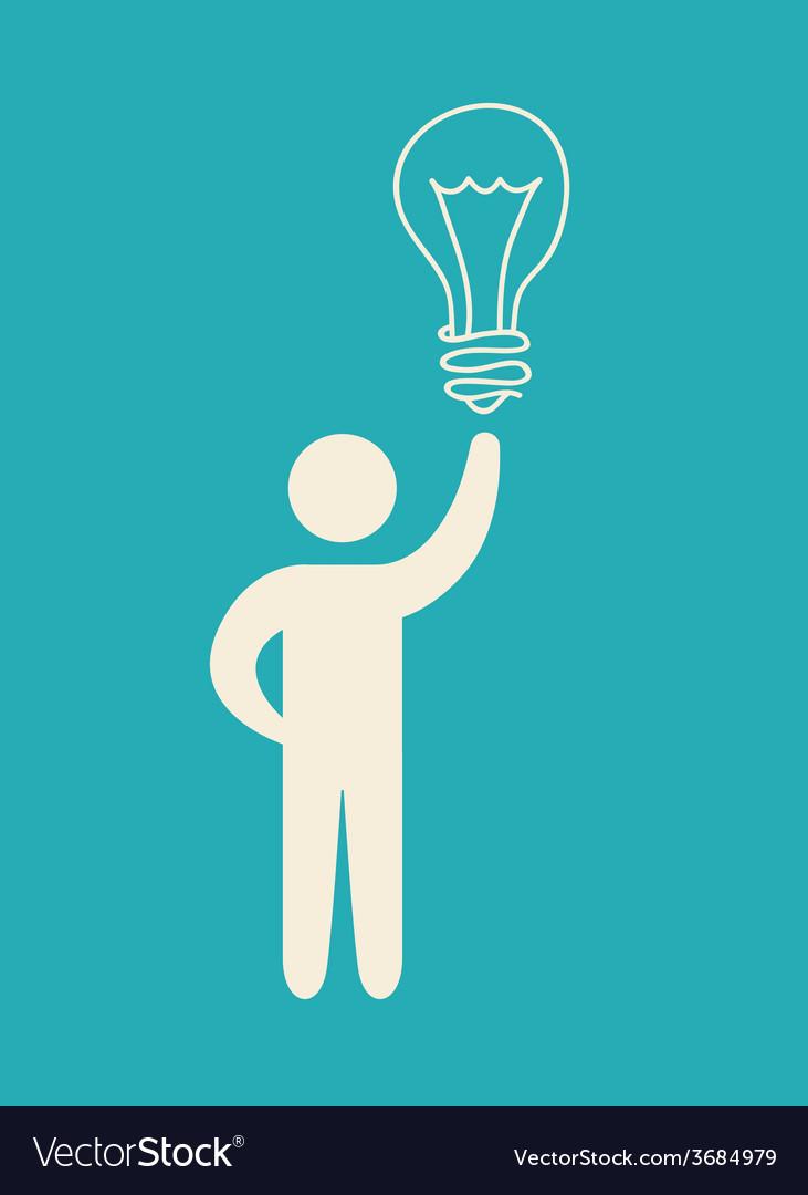 Bulb idea design vector | Price: 1 Credit (USD $1)