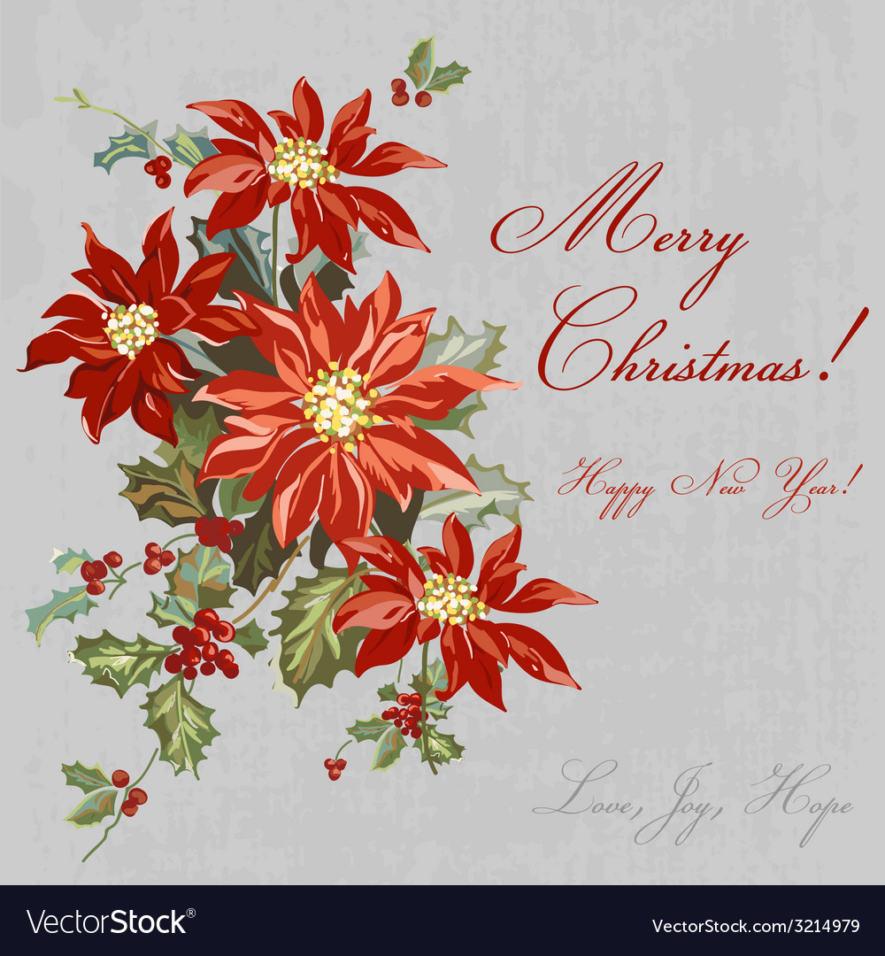 Christmas retro card - with place for your text vector | Price: 1 Credit (USD $1)