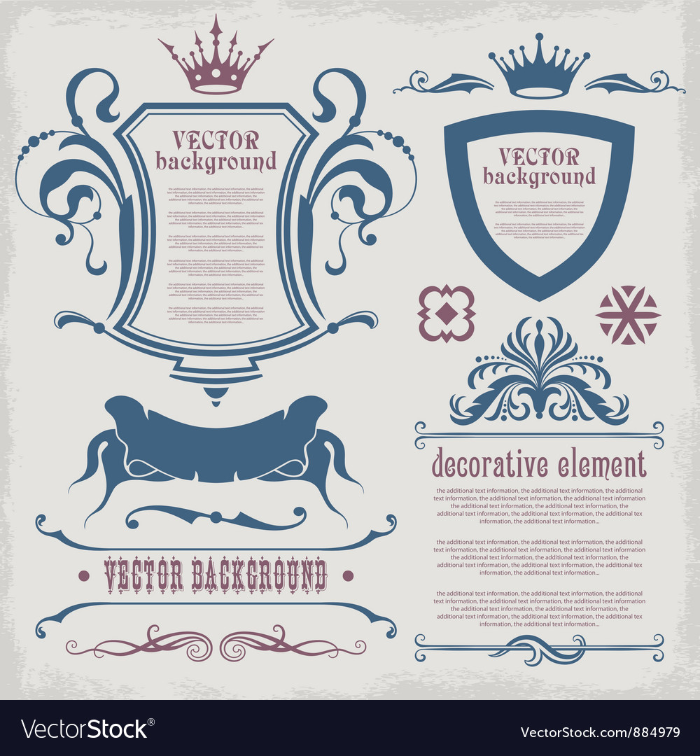 Decorative elements for text vector | Price: 1 Credit (USD $1)