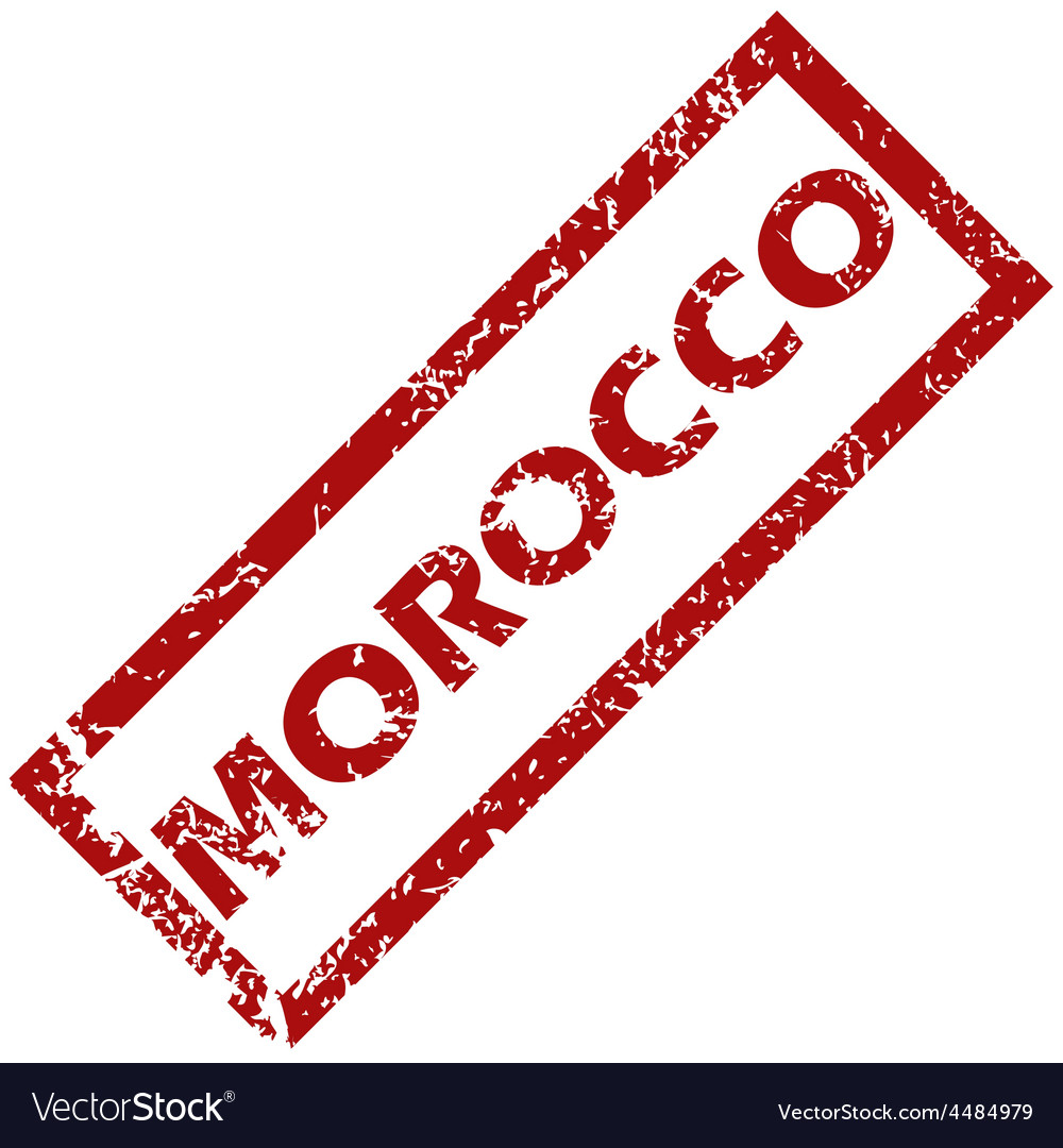 New morocco rubber stamp vector | Price: 1 Credit (USD $1)