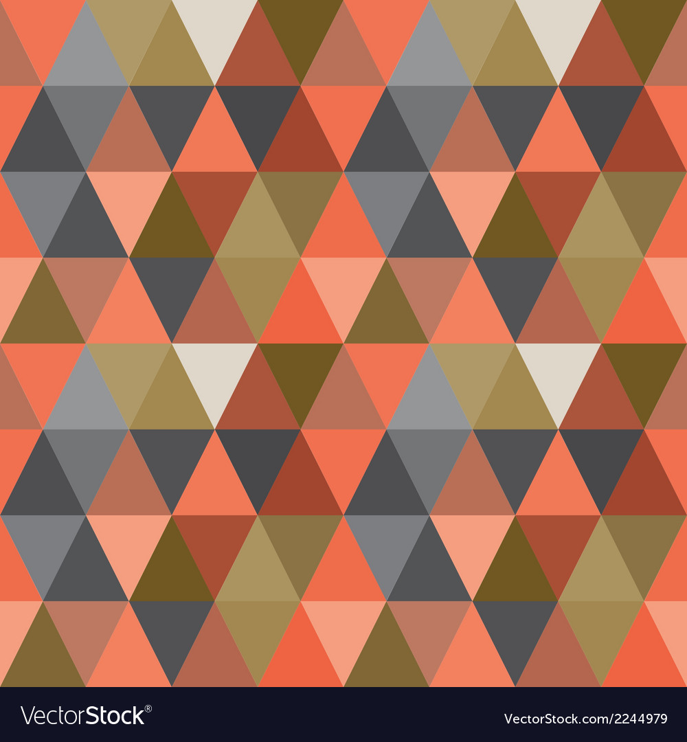Pattern of geometric shapes triangle background vector | Price: 1 Credit (USD $1)