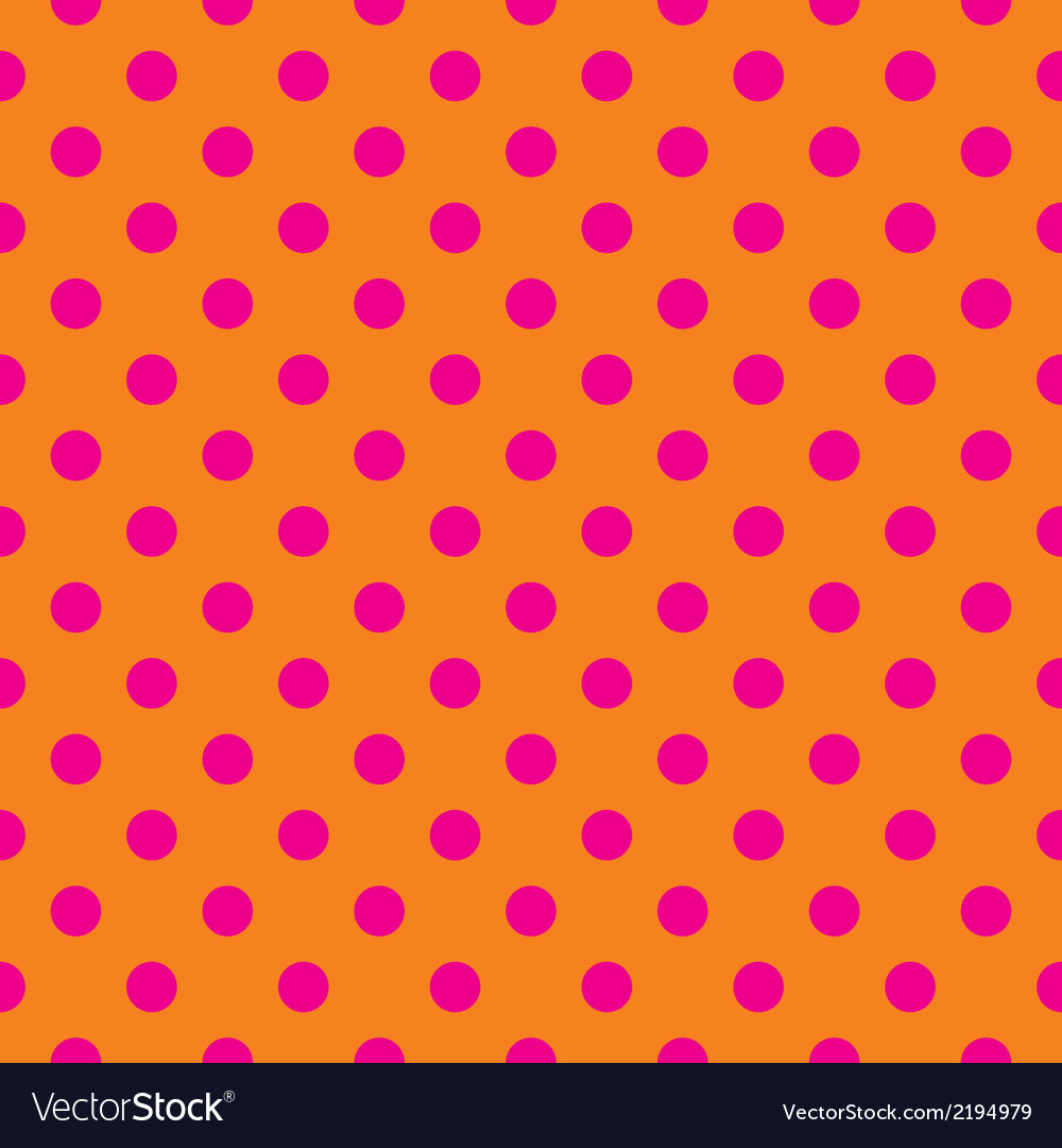 Pink polka dots tile wallpaper background vector | Price: 1 Credit (USD $1)