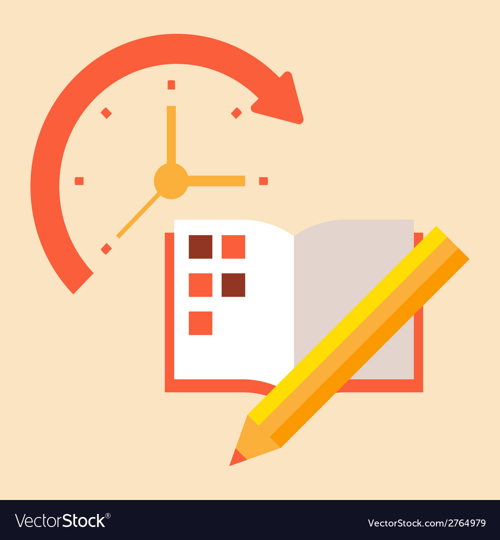 Time poanirvoat case to schedule and timetable vector | Price: 1 Credit (USD $1)