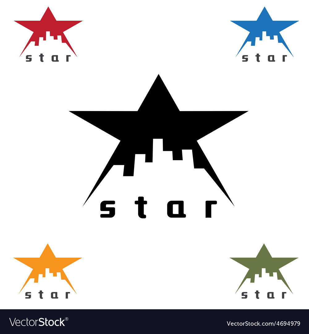 Urban star design template vector | Price: 1 Credit (USD $1)