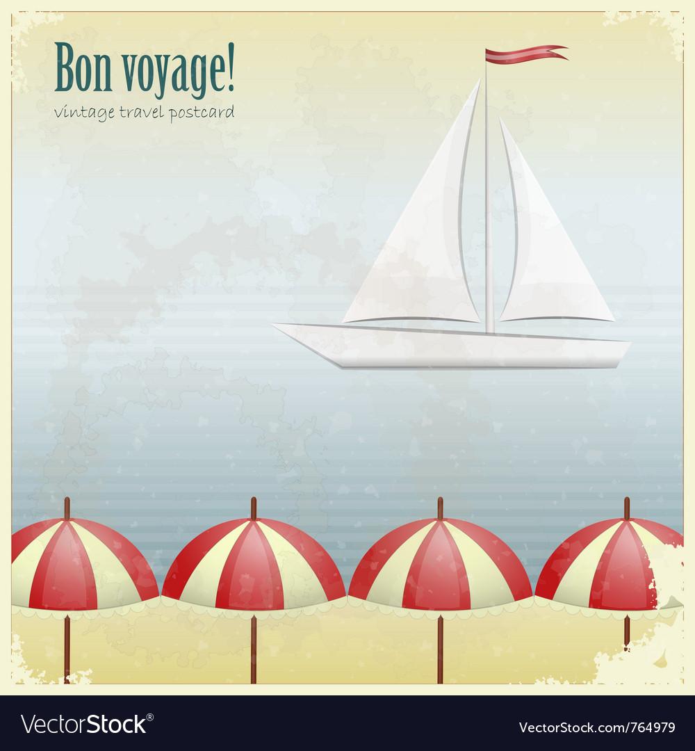 Vintage travel postcard vector   Price: 1 Credit (USD $1)