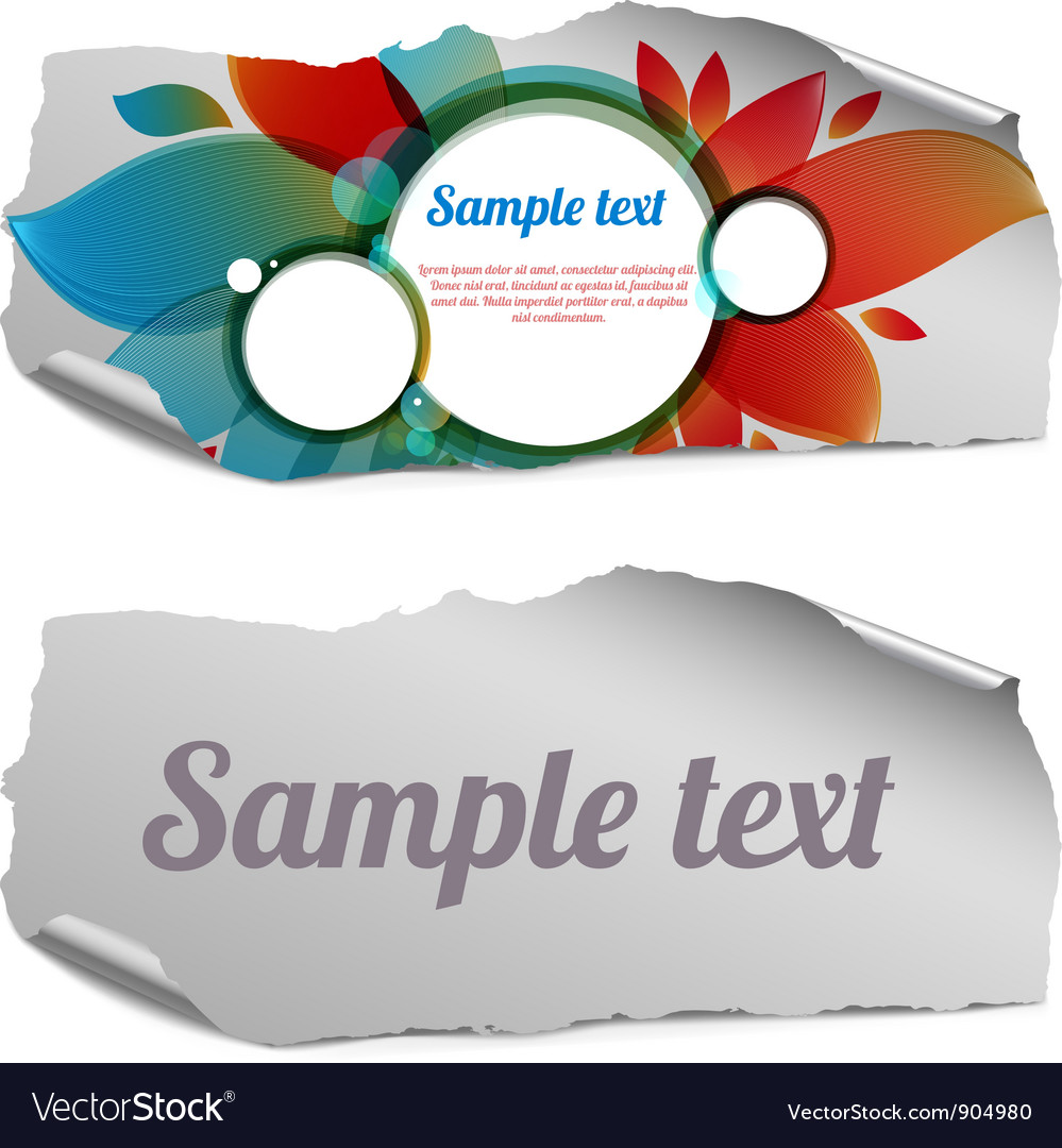 Colorful and blank ripped paper pieces vector | Price: 1 Credit (USD $1)
