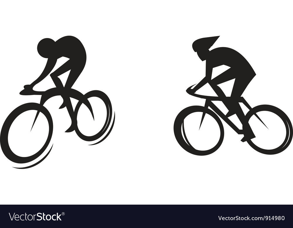 Cyclist silhouette vector | Price: 1 Credit (USD $1)