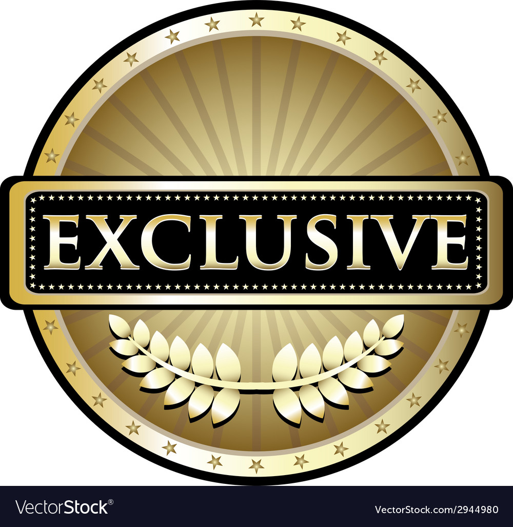 Exclusive gold label vector | Price: 1 Credit (USD $1)