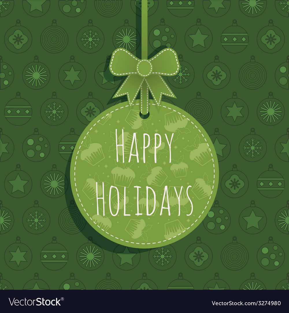 Green christmas ornament vector | Price: 1 Credit (USD $1)