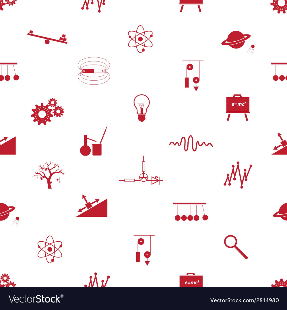 Physics icons seamless pattern eps10 vector | Price: 1 Credit (USD $1)