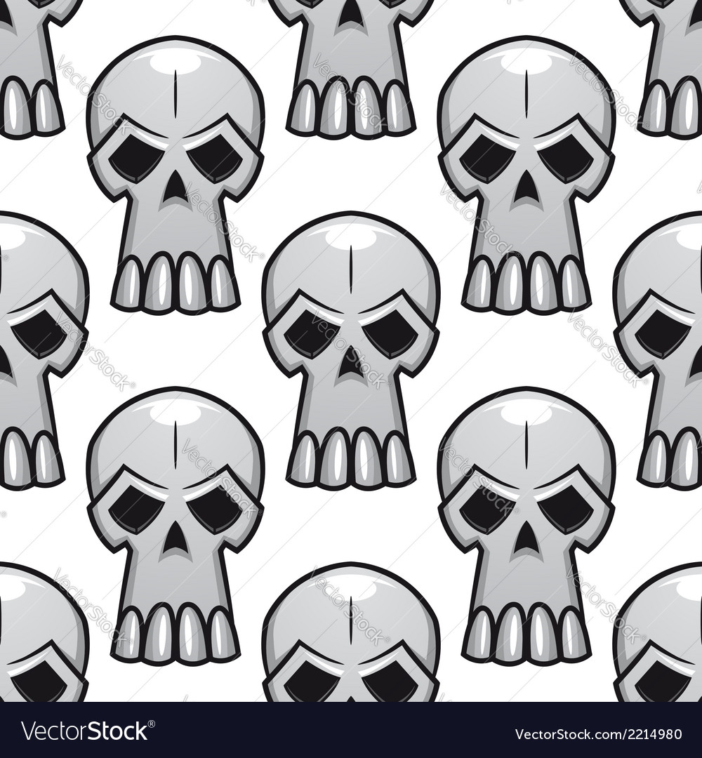 Seamless pattern of angry stylized skulls vector | Price: 1 Credit (USD $1)