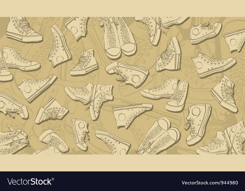 Sneakers background vector | Price: 1 Credit (USD $1)