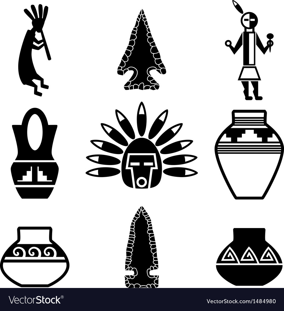 Southwest artifacts vector | Price: 1 Credit (USD $1)