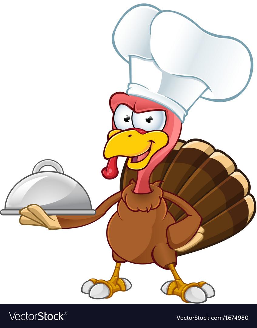 Turkey mascot chef vector   Price: 1 Credit (USD $1)