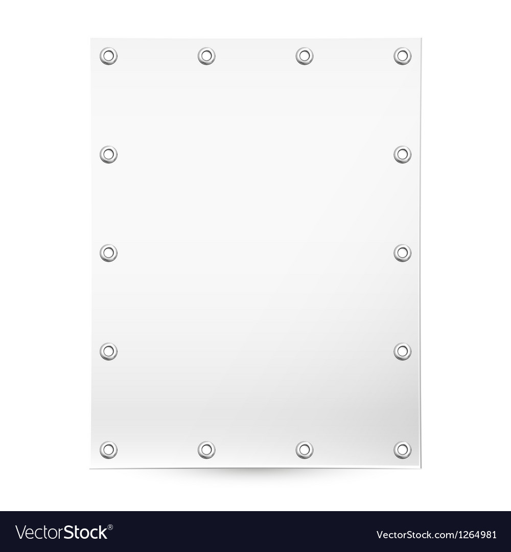 Blank white banner vector | Price: 1 Credit (USD $1)