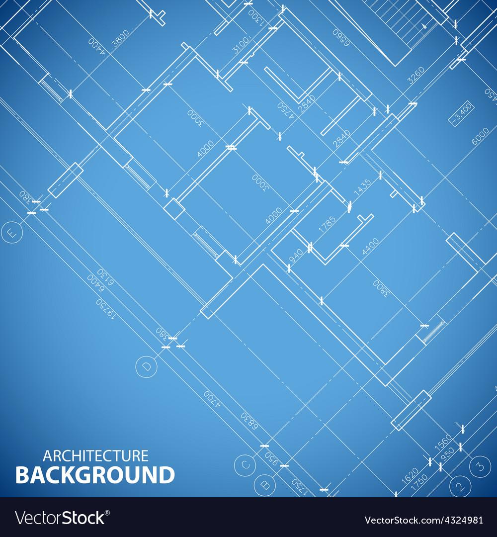 Blueprint building plan background vector | Price: 1 Credit (USD $1)
