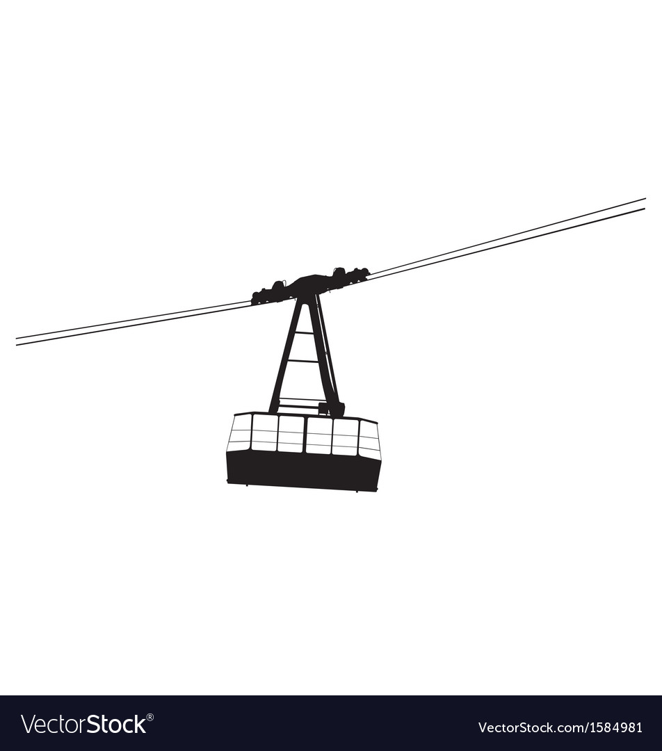 Cable car silhouette vector | Price: 1 Credit (USD $1)
