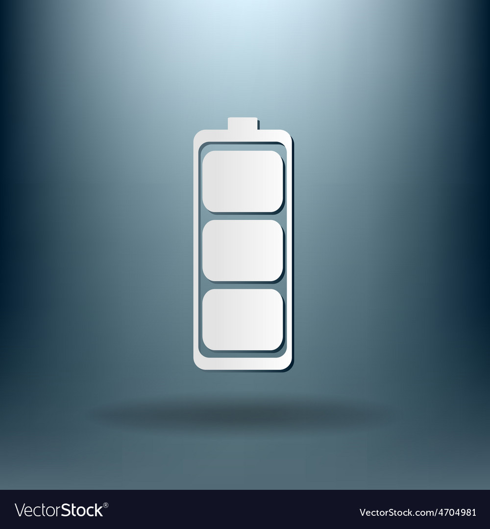 Charged battery symbol a charged battery icon vector   Price: 1 Credit (USD $1)