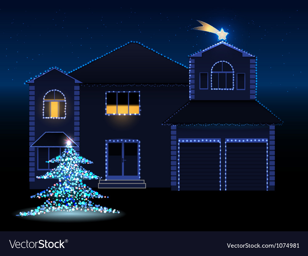 Christmas house vector | Price: 3 Credit (USD $3)