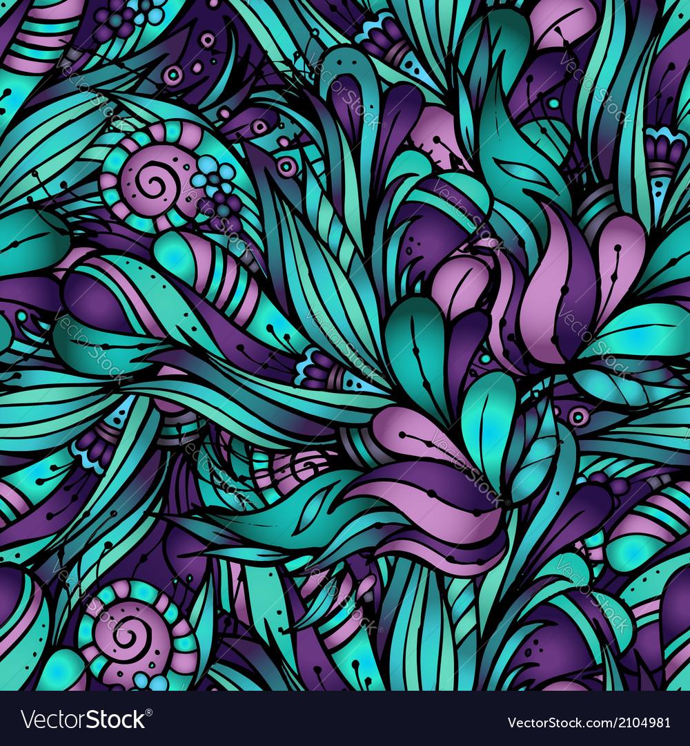 Decorative nature ornamental seamless pattern vector | Price: 1 Credit (USD $1)