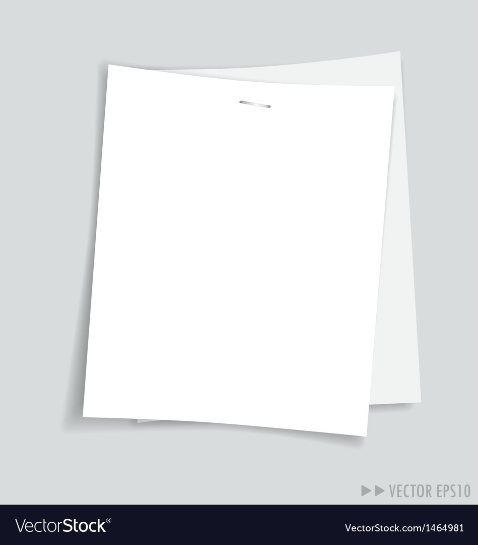 Empty white papers vector | Price: 1 Credit (USD $1)