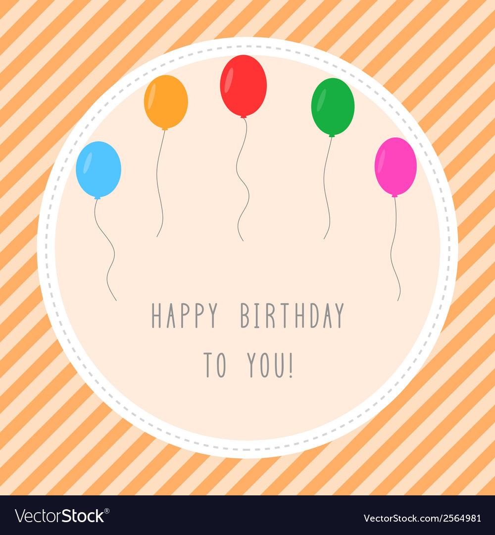 Happy birthday to you1 vector | Price: 1 Credit (USD $1)