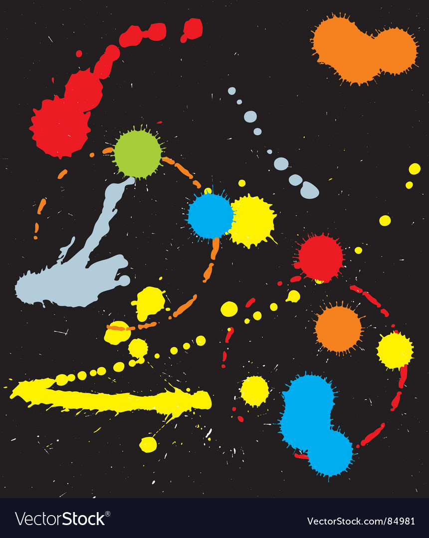 Ink splats vector | Price: 1 Credit (USD $1)